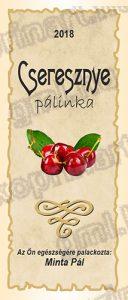 Cseresznye pálinkacímke