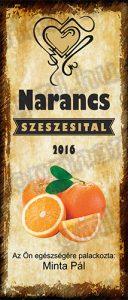 Narancs pálinkacímke