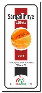 Sárgadinnye pálinkacímke